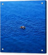 Toy Boat On Imaginary Water Acrylic Print by John Magnet Bell
