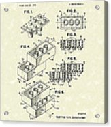 Toy Building Brick 1961 Patent Art Acrylic Print