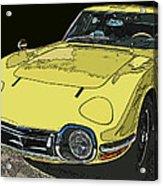 Toyota 2000 Gt Acrylic Print by Samuel Sheats