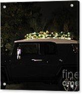 Toyota Fj Christmas Lights Acrylic Print