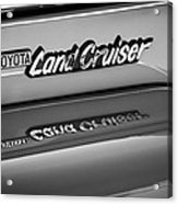 Toyota Land Cruiser Emblem -0581bw Acrylic Print