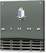 Tr3 Hood Ornament And Grill Acrylic Print