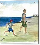 Tracing Your Footsteps In The Sand Acrylic Print