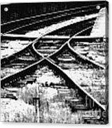 Tracks Acrylic Print by Alan Oliver