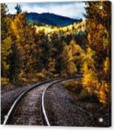 Tracks Through The Mountains  Acrylic Print
