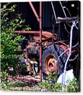 Tractor In Shed Acrylic Print