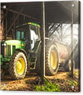 Tractor In The Morning Acrylic Print