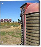 Tractor On The Pumpkin Farm Acrylic Print