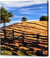 Tractor Trails - Blue Ridge Parkway Acrylic Print by Dan Carmichael