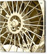 Tractor Wheel Acrylic Print