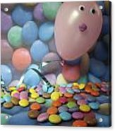Tracy Felt Like A Real Airhead Surrounded By All These Smarties Acrylic Print