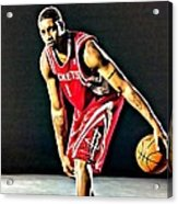 Tracy Mcgrady Portrait Acrylic Print