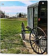 Traditional Amish Buggy Acrylic Print by Lee Dos Santos