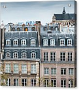 Traditional Buildings In Paris Acrylic Print