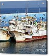 Traditional Chinese Fishing Boats Acrylic Print