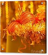 Traditional Christmas Decoration Acrylic Print by Anna Om