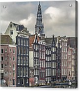 Traditional Dutch Houses Over A Canal Acrylic Print