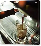 Traditional Espresso Coffee And Machine  Acrylic Print