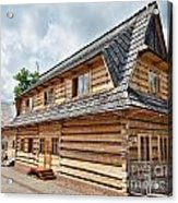 Traditional House In The High Tatra Mountains Poland Acrylic Print