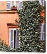 Traditional House Rome Italy Acrylic Print