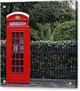 Traditional Red Telephone Box In London Acrylic Print