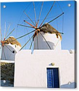Traditional Windmill In A Village Acrylic Print