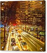 Traffic In A Big City Acrylic Print