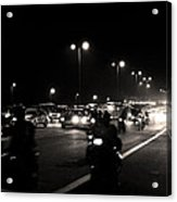 Traffic On Indian Roads Acrylic Print
