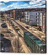Traffic On Lincoln Street Acrylic Print