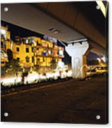 Traffic Running Beneath Flyover Acrylic Print