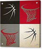 Trail Blazers Ball And Hoop Acrylic Print