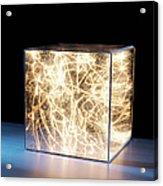 Trail Of Bright Light In Box Acrylic Print