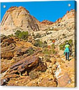 Trail Up To The Tanks From Capitol Gorge Pioneer Trail In Capitol Reef National Park-utah Acrylic Print