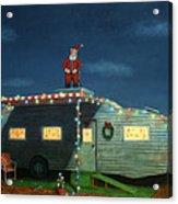 Trailer House Christmas Acrylic Print