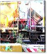 Train Abstract Blend 1 Acrylic Print