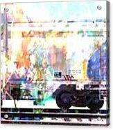 Train Abstract Blend 4 Acrylic Print