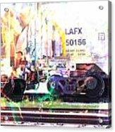 Train Abstract Blend 6 Acrylic Print
