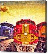 Train Art At Union Station Acrylic Print