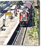 Train At Delhi Station Acrylic Print