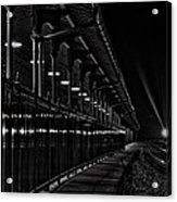 Train At Night Acrylic Print