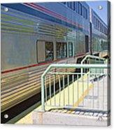 Train At Station Stop Acrylic Print