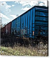 Train Boxcars Acrylic Print