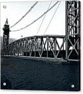 Train Bridge Down Acrylic Print