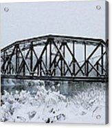 Train Bridge Over The Genesee River Acrylic Print