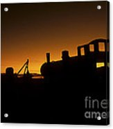 Uyuni Train Cemetery Sunset Bolivia Acrylic Print