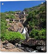 Train Crossing Dudhsagar Falls Acrylic Print