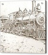 Train Drawing Acrylic Print