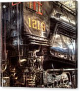 Train - Engine - 1218 - Norfolk Western - Class A - 1218 Acrylic Print by Mike Savad
