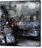 Train - Engine - 1218 - Waiting For Departure Acrylic Print