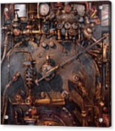 Train - Engine - Hot Under The Collar  Acrylic Print by Mike Savad